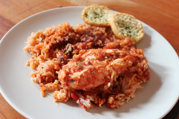 Slow Cooked Chicken With Sundried Tomatoes Rice recipe picture